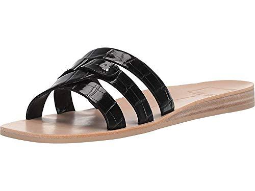 Dolce Vita Women's CAIT Slide Sandal, Onyx Crocodile Embossed Stella, 10 M US