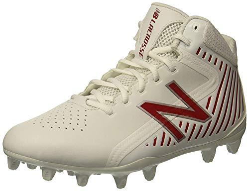 New Balance Men's Rush v1 Lacrosse Speed Shoe, White/Red, 13 2E US