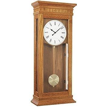 extra large light oak pendulum wall clock dual 4x4 chime by london