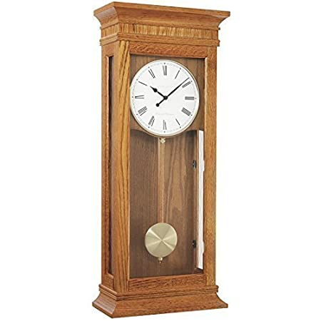 Extra large light oak pendulum wall clock dual westminster extra large light oak pendulum wall clock dual westminsterwhittington 4x4 chime by london aloadofball Choice Image