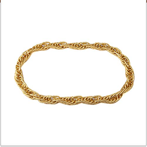 30 Inch 20mm Gold Style Thick Rope Hip Hop Chain ()