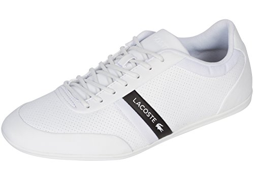 Lacoste Sneakers Lace (Lacoste Men's Storda 318 1 U White/Black 8 M US M)