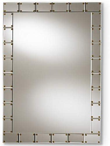 Baxton Studio Almeria Decorative Wall Mirror in Silver