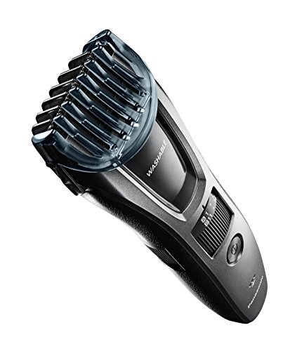 Panasonic Hair and Beard Trimmer, Men's, with 39 Adjustable Trim Settings and Two Comb Attachments for Beard and Hair, Corded or Cordless Operation, ER-GB60-K