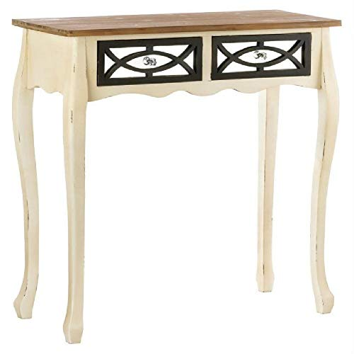 Table Distressed Console Sofa Antique Hand Carved Wooden with Mirror Drawers BESTChoiceForYou