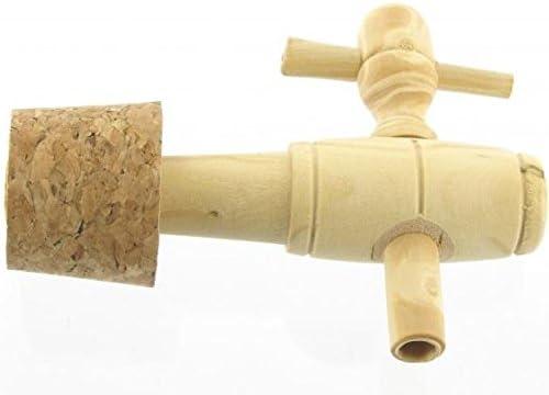 Wasserhahn aus Naturholz und Korken