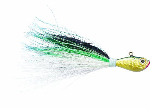 - Spro Bucktail Jig-Pack of 1, Green Shad, 1-Ounce