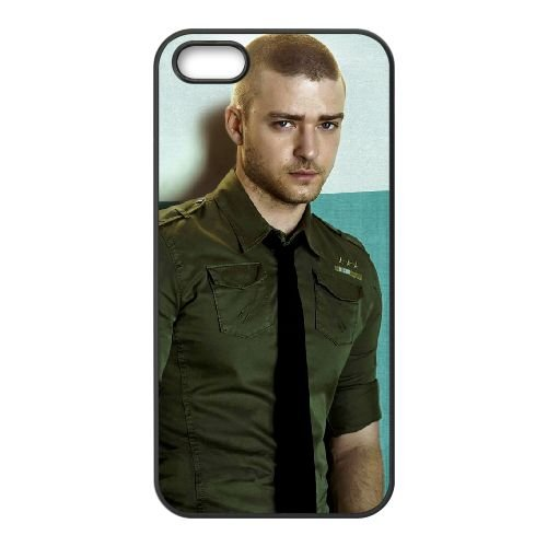 Justin Timberlake 005 coque iPhone 5 5S cellulaire cas coque de téléphone cas téléphone cellulaire noir couvercle EOKXLLNCD25044
