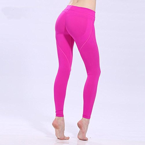 Nbe Taille La Stretch Longueur Leggings Sport Pantalon Femmes Yoga Cheville Moyenne Rose Fitness Des 5r5dqHw