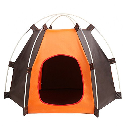 YK Portable Pet Tent Outdoor Waterproof Camping Dog House Summer Beach Dog Play Tent Cat Toy Tent Dog Bed Crate for Small Dog and Cats, Indoor & Outdoor Small Large Animals Shelter