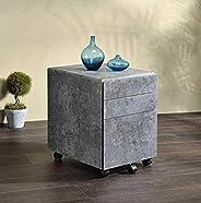 """Q-Max 22"""" Tall Contemporary Style File Cabinet Faux Con"""