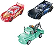 Disney Pixar Cars Color Changers Lightning McQueen, Mater & Jackson Storm 3-Pack, Gift for Kids Age 3 Year