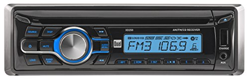 Dual Electronics XD250 Multimedia Detachable LCD Single DIN Car Stereo with Built-in CD, USB, MP3 WMA Player