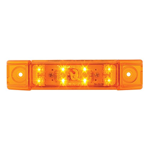 - Grand General 76260 Amber Rectangular Wide Angle 8 LED Marker/Clearance Light with Amber Lens