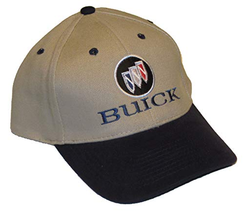 (Gregs Automotive Buick Logo Hat Cap Khaki Blue - Bundle with Driving Style Decal)