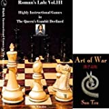 Roman's Labs Chess Vol. 111: Highly Instructional Games in the Queen's Gambit Declined Chess DVD & ChessCentral's Art of War E-Book (2 Item Bundle)