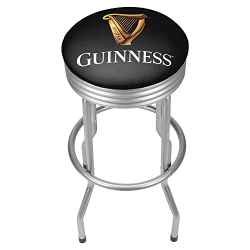 Guinness Custom Outdoor Ribbed Barstool - - Glass Stained Billiard Lamp Custom