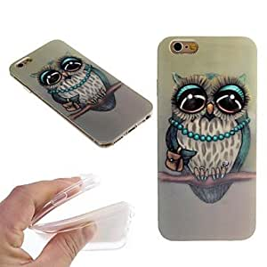 ZXSPACE Nobleman Owl Pattern TPU Back Cover Case for iPhone 6