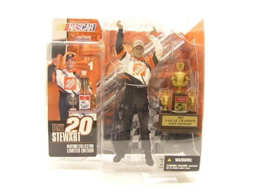 Tony Stewart 2002 Home Depot - Tony Stewart #20 Home Depot Mature Collectors Limited Edition 2002 NASCAR CUP CHAMPION McFarlane Series One Action Figure
