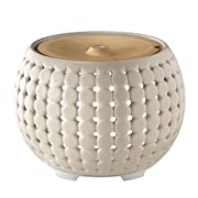 Ellia, Gather Ultrasonic Essential Oil Aromatherapy Diffuser with 3 Oil Samples, 10 Hours Continuous Runtime, Remote, Mood Light and Sounds. 200mL Reservoir Size. Ceramic & Wood, Grey ARM-910GY