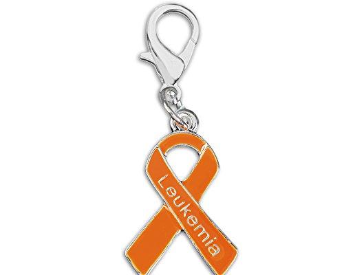 Leukemia Awareness Orange Ribbon Hanging Charm in Bag (1 Charm - Retail)