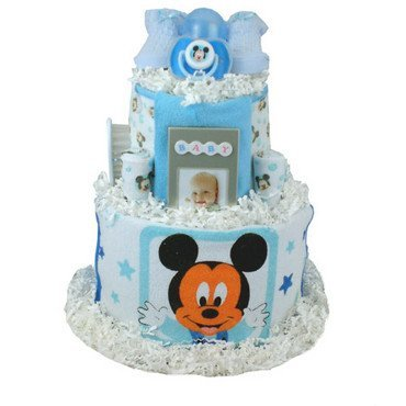 Baby Gift Idea MICCAKEW Mickey Mouse Diaper Cake (Mickey Mouse Baby Shower Ideas)