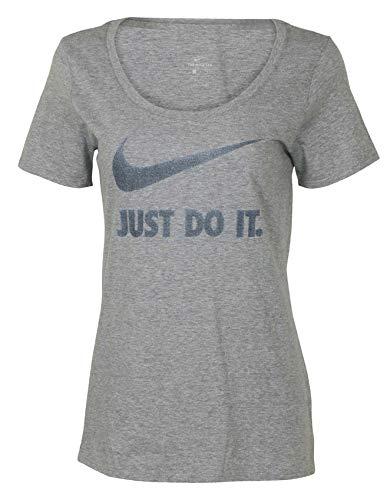 T-shirt Womens Cut Football (Nike Women's Scoop Neck T-Shirt Athletic Cut (Small, Grey/Dark Grey))