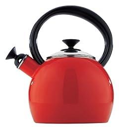 Copco 1.35 Quart Camden Tea Kettle Red Enamel on Steel
