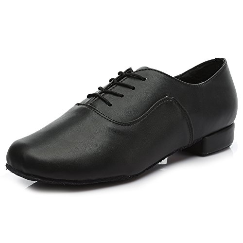 Image of Roymall Men's Leather Professional Latin Dance Shoes Ballroom Jazz Tango Waltz Performance Shoes