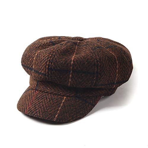 ZXW Sombrero - Otoño e Invierno. Sombrero a Cuadros japonés británico.  Versión Coreana de ad3230ccc2a