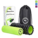 PowerPro Foam Rollers - best quality AVAILABLE! *Unique Targeted massage for Painful, Tight