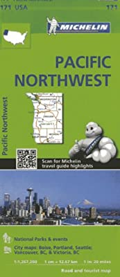 Michelin Usa Pacific Northwest Michelin Maps Amazon Co Uk
