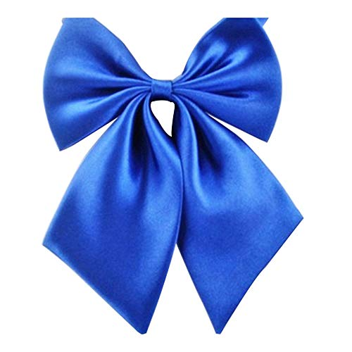 Gliterstar Women's Solid Color Bow Tie School Student Sailor Suit Bowknot Adjustable Ribbon (Dark Blue)]()