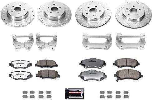 for 2007-2019 JK//JKU Power Stop BBK-JK-001 Front and Rear Big Brake Conversion Kit