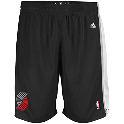 adidas Portland Trail Blazers Black Swingman Performance Shorts (XXL)
