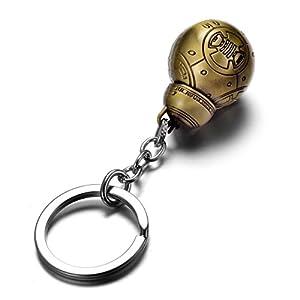 REINDEAR Star Wars Robot BB-8 Droid Metal Pendant Keychain US Seller (Copper)
