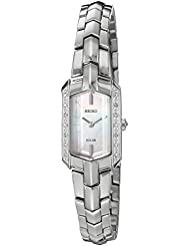 Seiko Womens Quartz Stainless Steel Casual Watch, Color:Silver-Toned (Model: SUP329)
