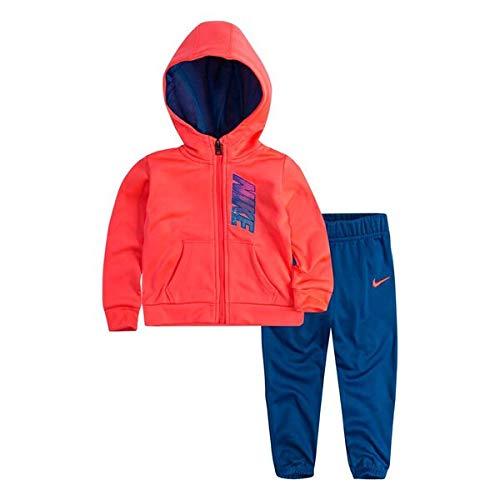 separation shoes 2674f c8cc8 Nike Girls Tracksuit Rosa Blu Fluo Amazon.co.uk Clothing