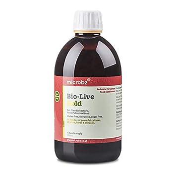 Bebida fermentada BIO-LIVE GOLD para restaurar la flora intestinal o microbiota, y fortalecer el sistema inmunológico