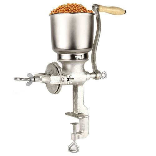 Corn Wheat Grinder Cast Iron Big Hopper Grain Manual Grinder Home Commercial