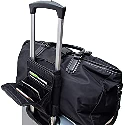 Travel Bag Bungee Organizer, Portable Bungee Cord Up Bag, Small Secure Travel Luggage Strap, Luggage Side Roll for Sports/Gym Duffle Bag SND37 (black)