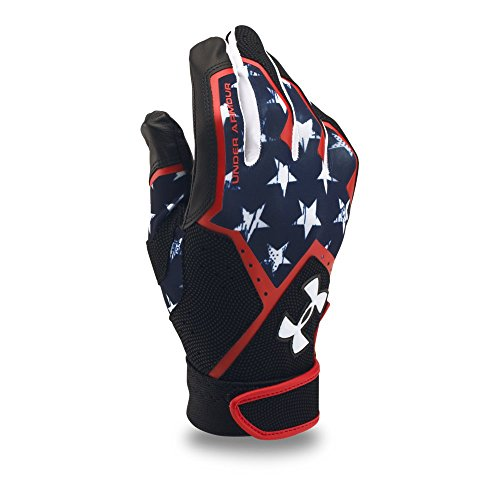 Nylon Print Gloves - Under Armour Men's Clean Up Graphic Print Baseball Gloves, Midnight Navy/Black, Medium