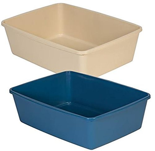Petmate Litter Pan, Small, Blue/Gray color may vary (3 Pack)