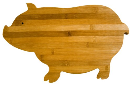 Totally Bamboo Pig Cutting Board (Pig Cutting Wood Board)
