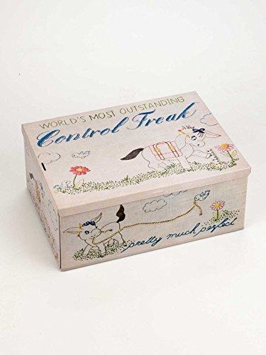 Blue Q Tin Box, Cigar Box, World's Most Outstanding Control Freak