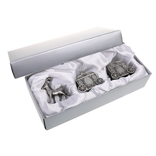 - Jili Online A Set of My First Tooth & Curl Trinket Boxes Tin Baby Keepsake Christening Boy Girl Gift - Antique Silver, 6