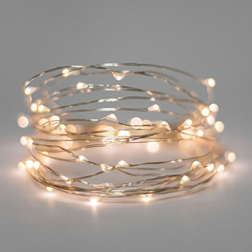 Walmart Led Christmas Lights - Starry Lights Mini Sets. 20 Warm White Micro LEDs on 6.5 Foot Silver Wire. Battery Powered With On/Off Switch