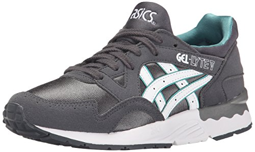 ASICS Gel Lyte V GS Running Shoe (Big Kid), Dark Grey/White, 5 M US Big Kid