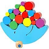 Fuyage Moon Equilibrium Game Wooden Stacking Blocks Balancing Game Sorting Toy Building Early Brain Development for Kids