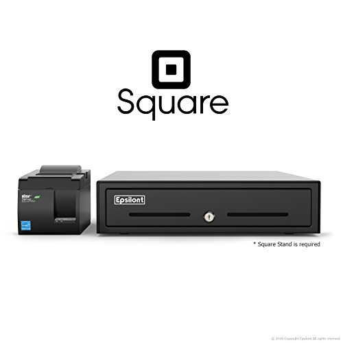SQUARE POS HARDWARE BUNDLE - Star Micronics TSP143IIU 39464011 USB Printer and Epsilont Cash Drawer (Square Register Scanner compare prices)